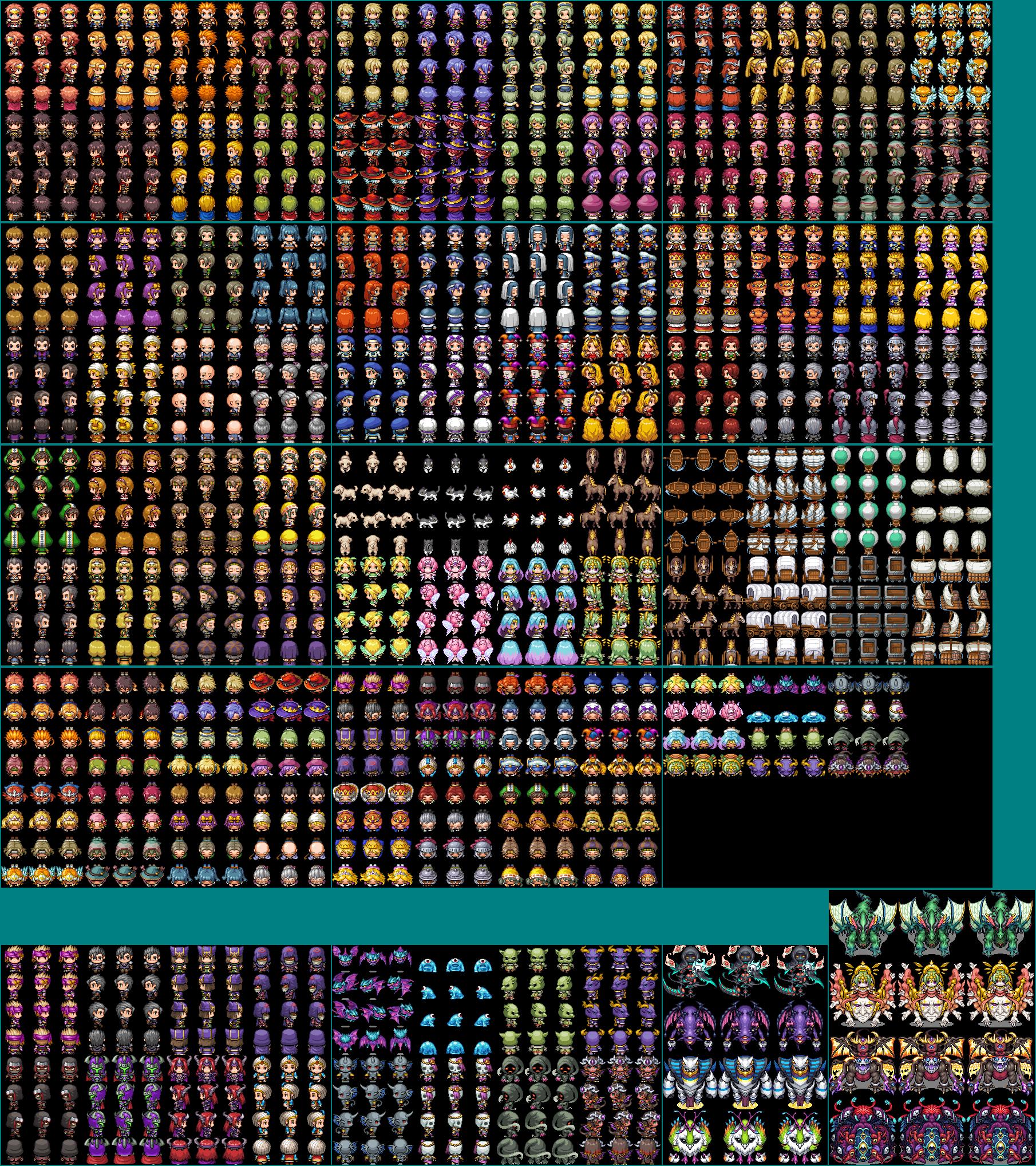 The Spriters Resource - Full Sheet View - RPG Maker MV