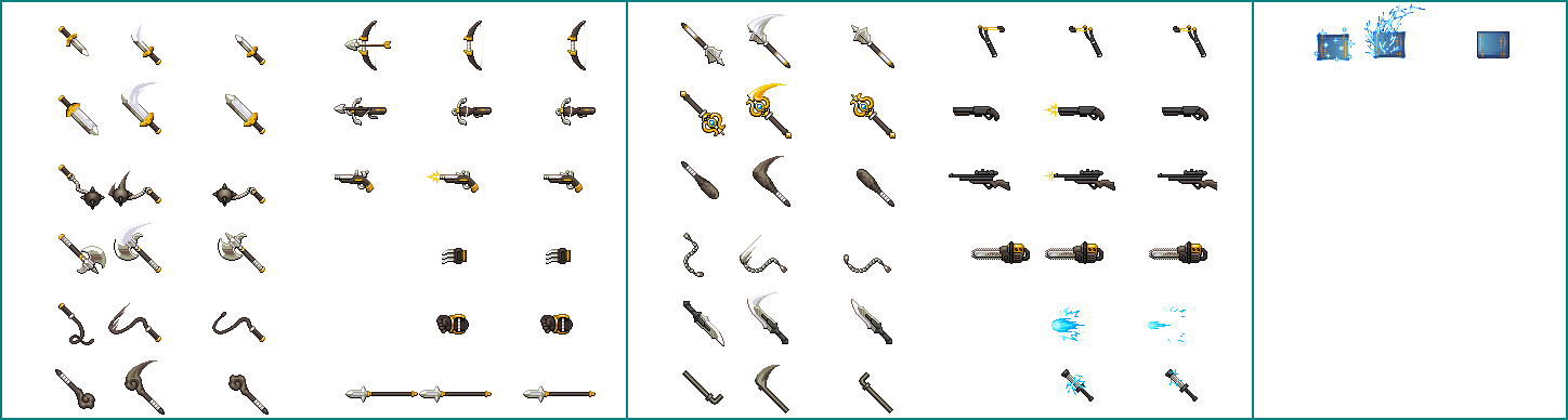 The Spriters Resource - Full Sheet View - RPG Maker MV - Weapons