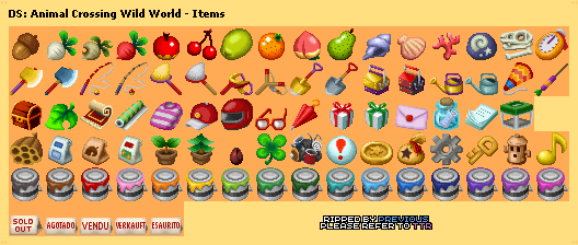 Ds Dsi Animal Crossing Wild World Items The
