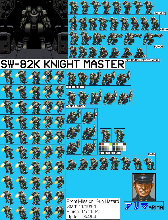 Snes Front Mission Gun Hazard Jpn Sw 82k Knight Master