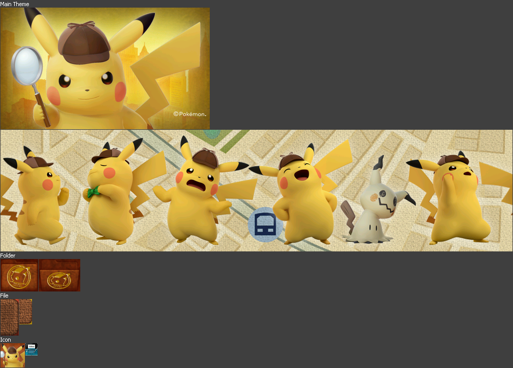 3ds Nintendo 3ds Themes Detective Pikachu The Spriters Resource