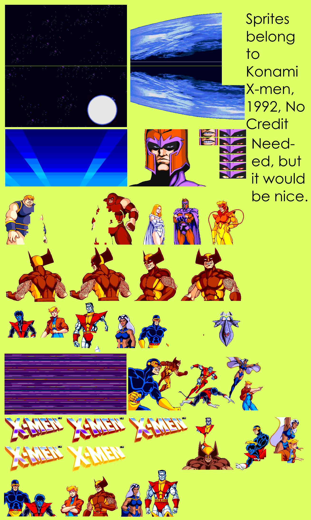 Arcade - X-Men - Attract Mode - The Spriters Resource