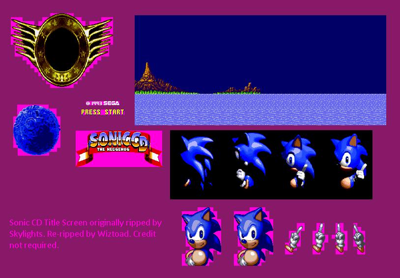 Genesis 32x Scd Sonic The Hedgehog Cd Sega Cd Title Screen The Spriters Resource