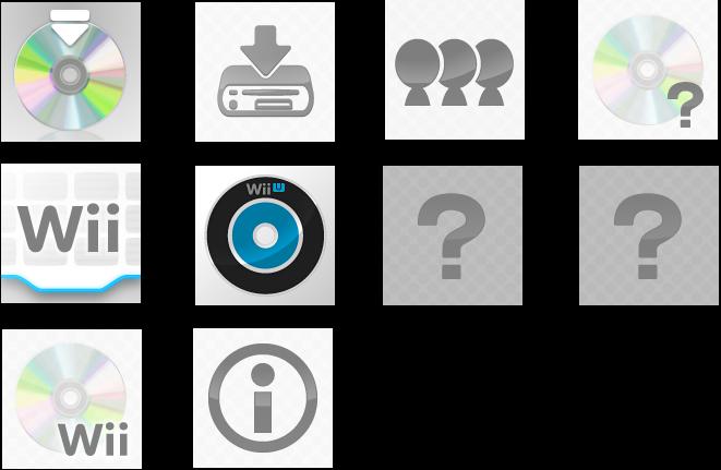 Wii U - Wii U Menu - Wii U Menu Exclusive Icons - The