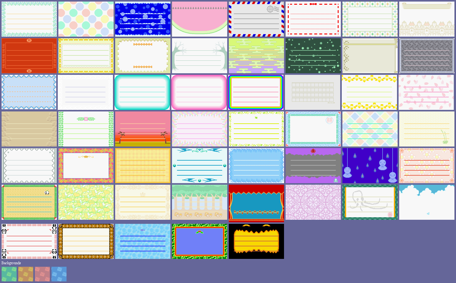 Gamecube Animal Crossing E Reader Letters The Spriters Resource