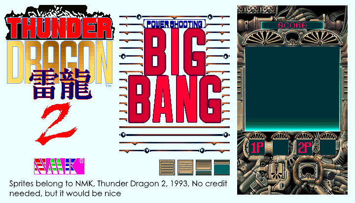 Arcade - Thunder Dragon 2 / Big Bang - Attract Mode - The