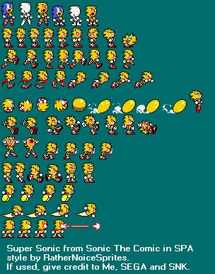 Custom Edited Sonic The Hedgehog Media Customs Super Sonic Sonic Pocket Adventure Style The Spriters Resource