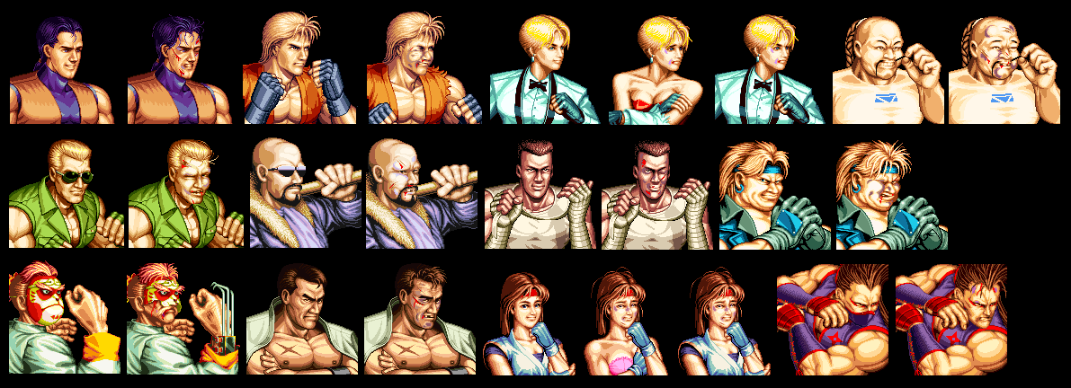 Neo Geo Ngcd Art Of Fighting 2 Portraits The Spriters Resource