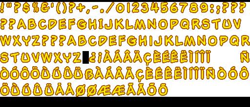 Ds Dsi Garfield S Nightmare Font The Spriters Resource