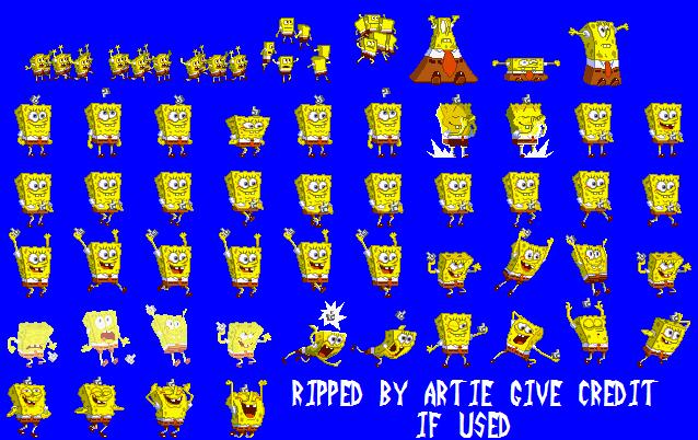 Game Boy Advance Nicktoons Freeze Frame Frenzy Spongebob