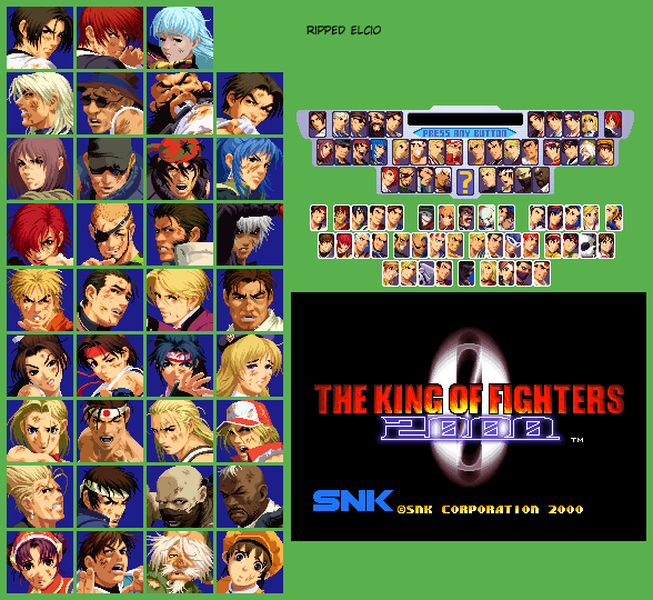 Neo Geo Ngcd The King Of Fighters 2000 Continue Portraits