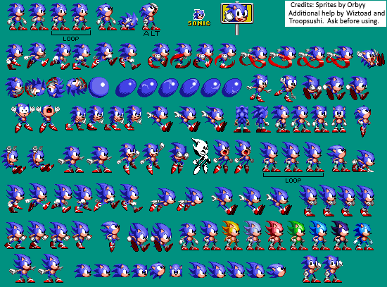 Custom Edited Sonic The Hedgehog Customs Sonic Sonic 1 Beta Style The Spriters Resource