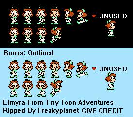Nes Tiny Toon Adventures Elmyra The Spriters Resource