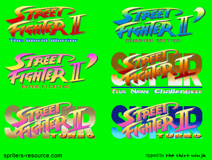 Arcade Street Fighter 2 Super Street Fighter 2 Logos The Spriters Resource