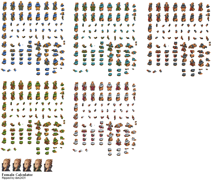 The Spriters Resource - Full Sheet View - Final Fantasy Tactics