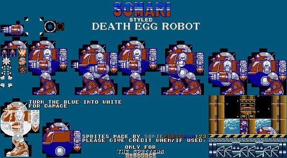 Custom Edited Sonic The Hedgehog Customs Death Egg Robot Somari Style The Spriters Resource