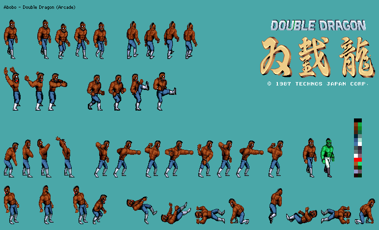 Arcade Double Dragon Jick The Spriters Resource