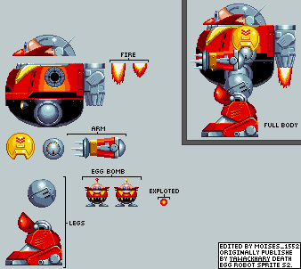 Custom Edited Sonic The Hedgehog Customs Death Egg Robot Sonic Mania Style The Spriters Resource