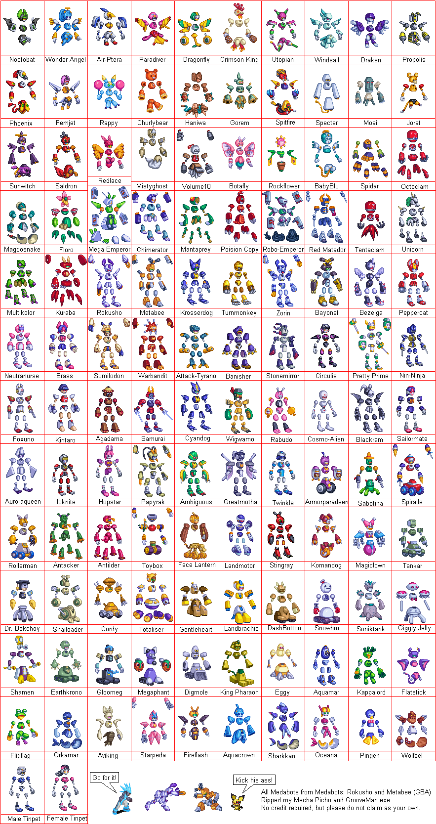 Game Boy Advance - Medabots - Models - The Spriters Resource