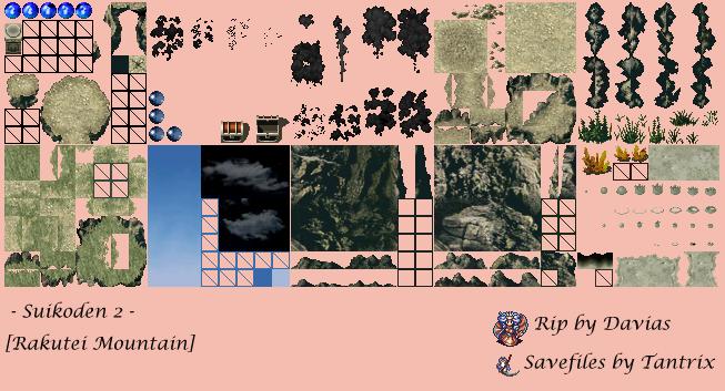 PlayStation - Suikoden 2 - Rakutei Mountain - The Spriters ...