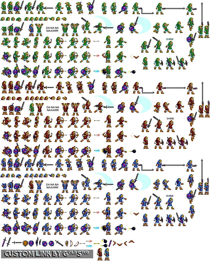 Custom Edited The Legend Of Zelda Customs Link The