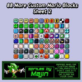 Custom Edited Mario Customs Blocks The Spriters Resource