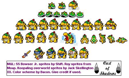 Custom Edited Mario Customs Bowser Jr Mario Luigi