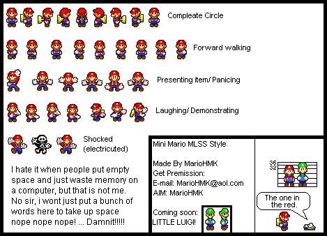 Custom Edited Mario Customs Mini Mario Mario Luigi