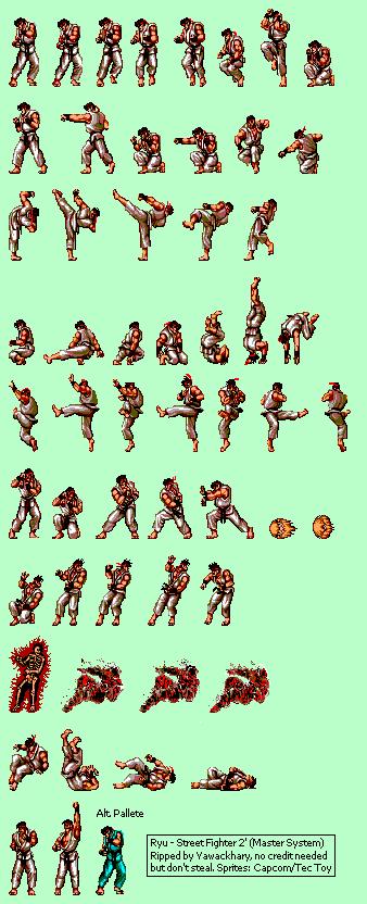 Master System Street Fighter 2 Brz Ryu The Spriters Resource