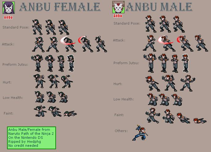 DS / DSi - Naruto: Path of the Ninja 2 - Anbu (Male and