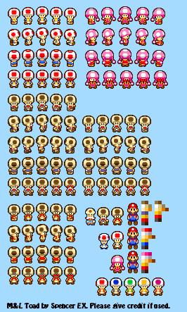 Custom Edited Mario Customs Toads Mario Luigi Superstar