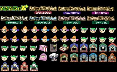 Gamecube Animal Crossing Memory Card Sprites The
