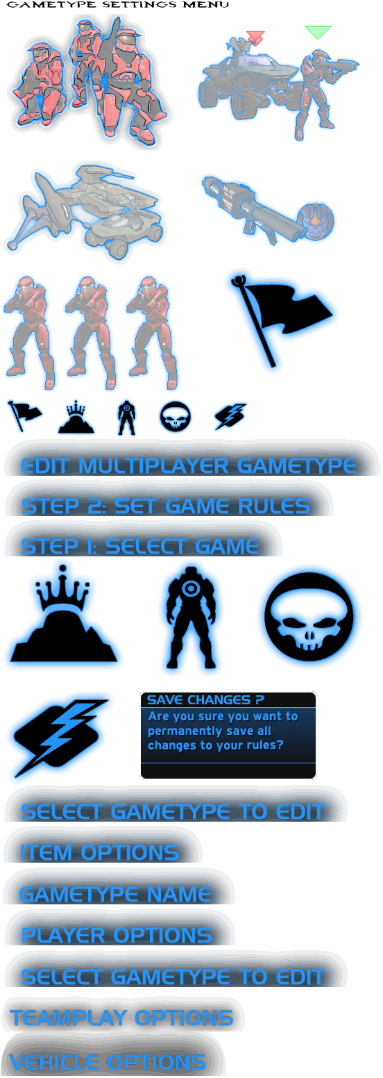PC / Computer - Halo - Combat Evolved - Gametype Settings