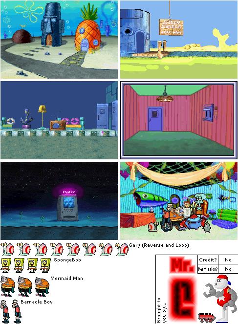 Game Boy Advance Spongebob Squarepants Supersponge Storyline