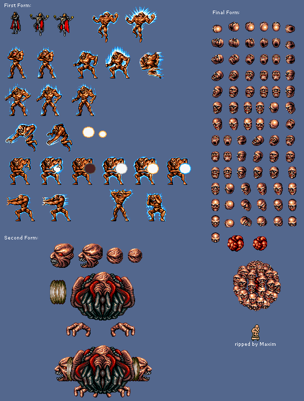The Spriters Resource Full Sheet View Contra Hard Corps Neo