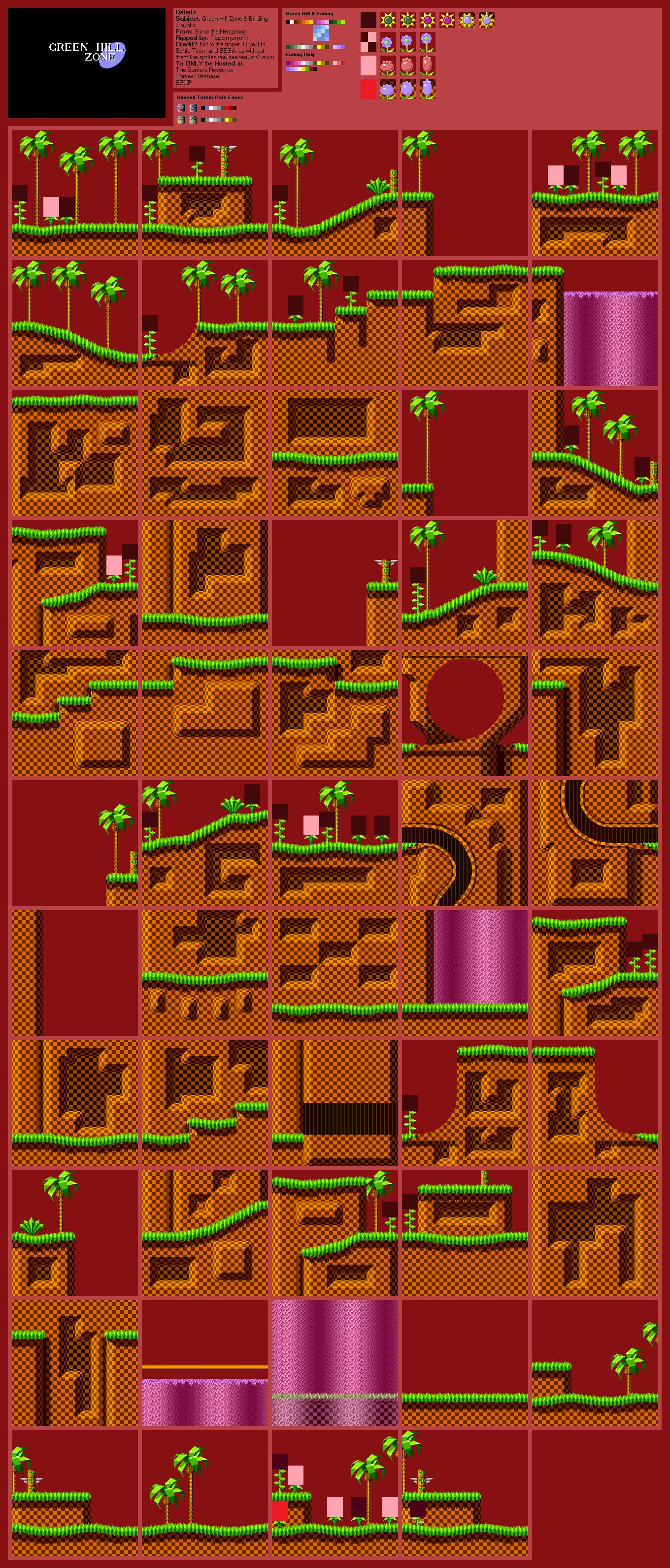 Genesis / 32X / SCD - Sonic the Hedgehog - Green Hill Zone