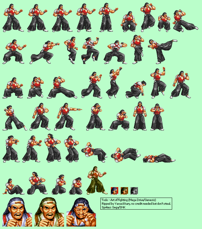 Genesis 32x Scd Art Of Fighting Todo The Spriters Resource