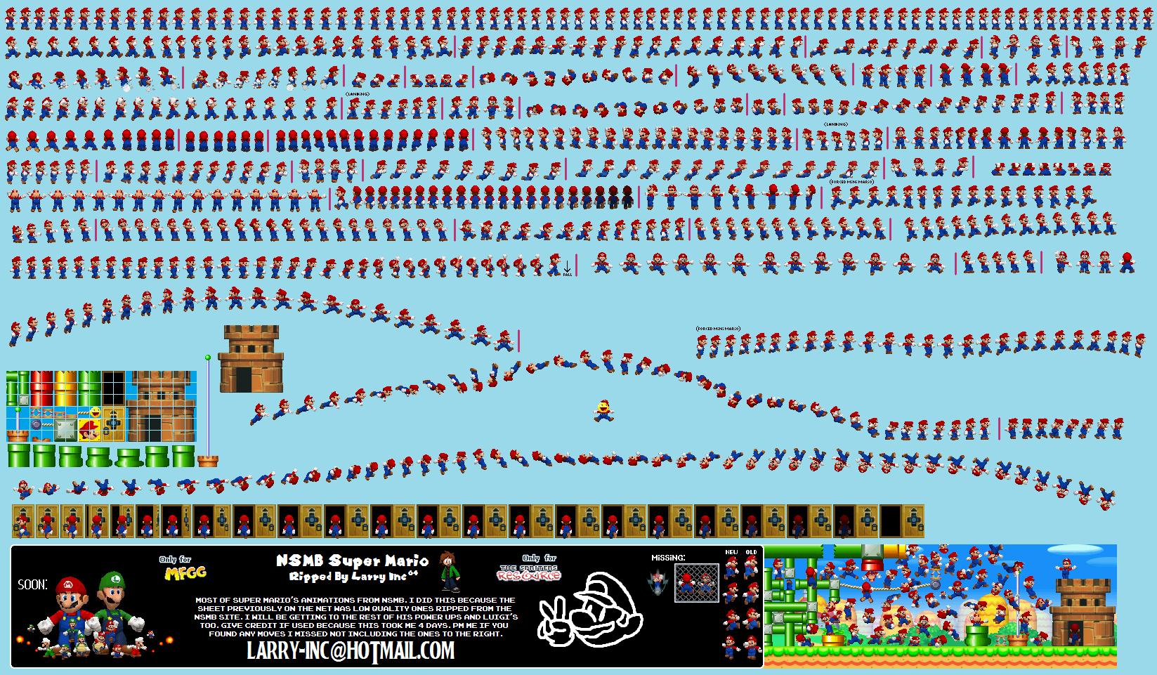 Ds Dsi New Super Mario Bros Mario The Spriters Resource