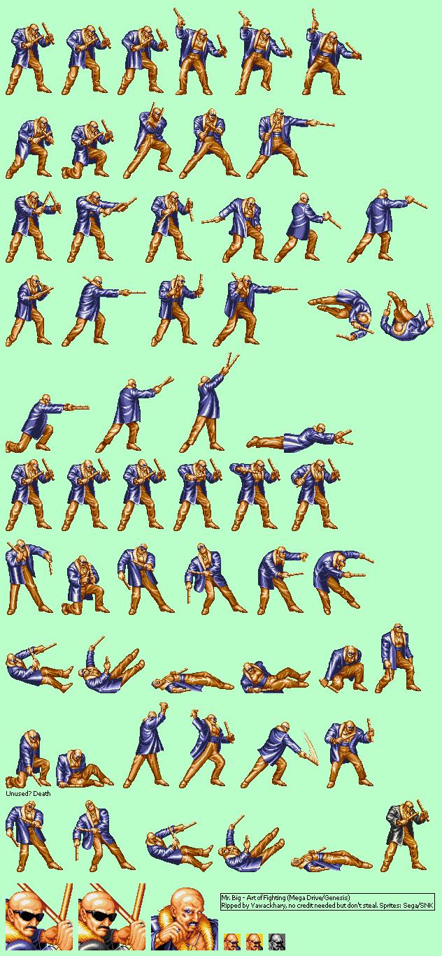 Genesis 32x Scd Art Of Fighting Mr Big The Spriters Resource