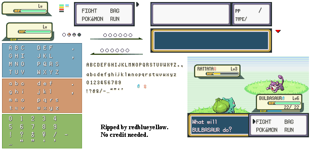 Game Boy Advance Pokemon Firered Leafgreen Hp Bars In Battle Menu The Spriters Resource