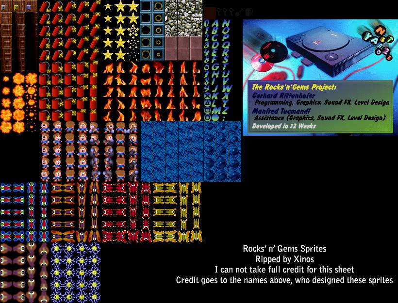 PlayStation - Net Yaroze - Rocks 'n' Gems - The Spriters