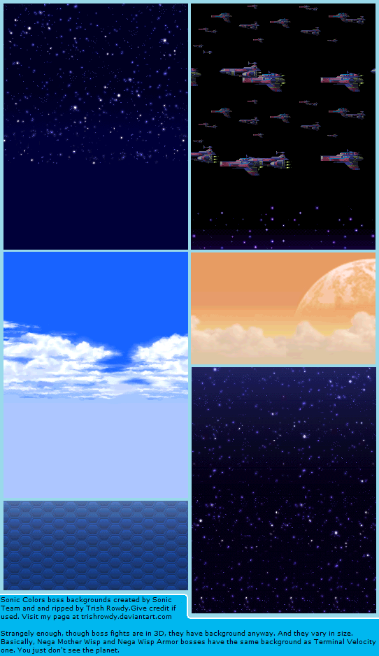 DS / DSi - Sonic Colors - Boss Backgrounds - The Spriters Resource