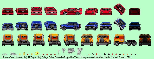 Genesis 32x Scd Chase H Q Ii Super H Q Player Cars The