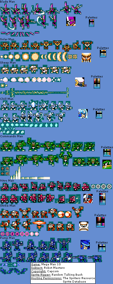 Wii Mega Man 10 Robot Masters The Spriters Resource