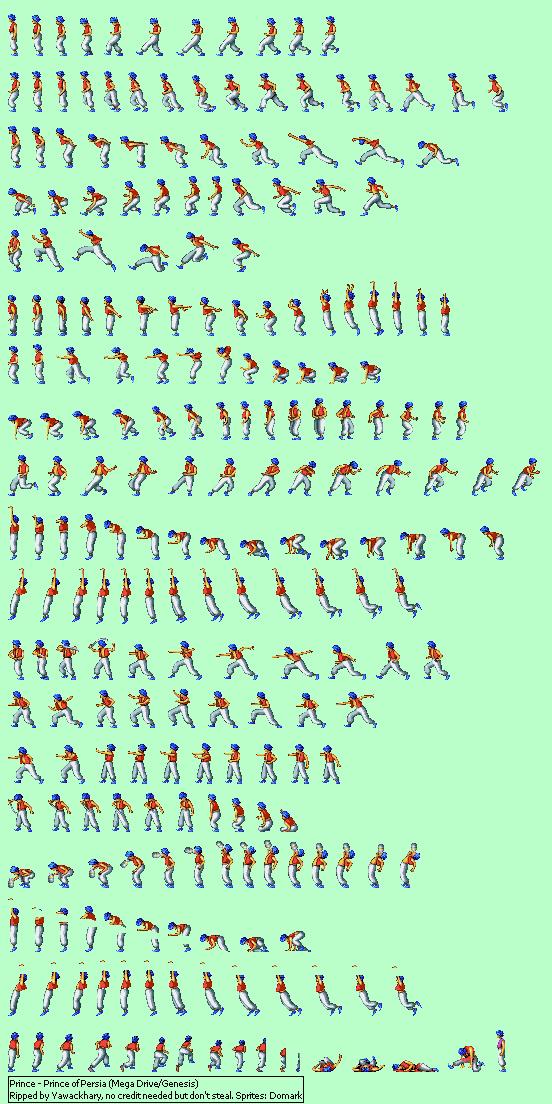 Genesis 32x Scd Prince Of Persia Prince The Spriters Resource