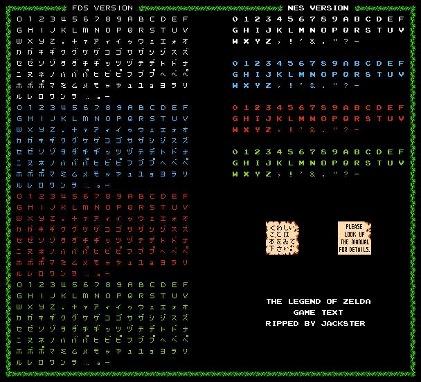 Nes The Legend Of Zelda Fonts The Spriters Resource