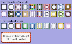 menu frames