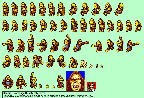 The Spriters Resource Full Sheet View Rampage George