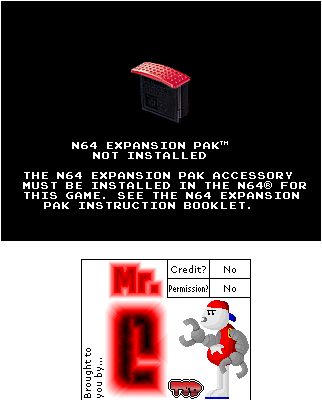 N64 Expansion Pak Not Installed