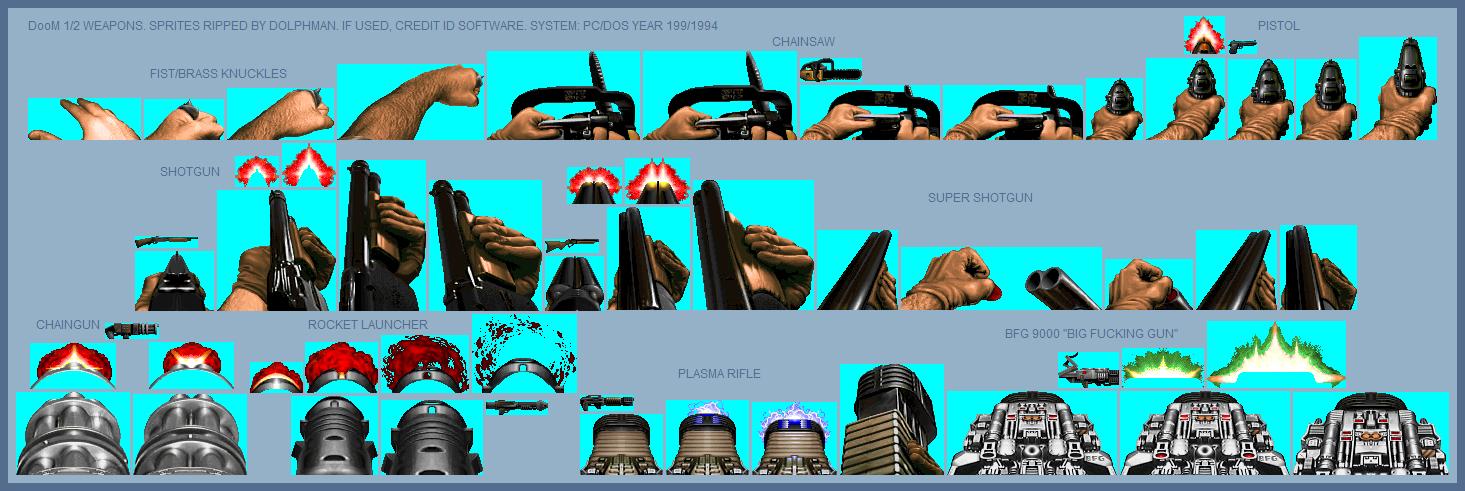 PC / Computer - Doom / Doom II - Weapons - The Spriters Resource